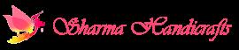 sharma handicrafts script logo