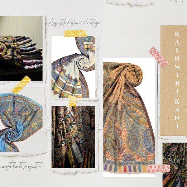 kashmiri pashmina shawls made in india