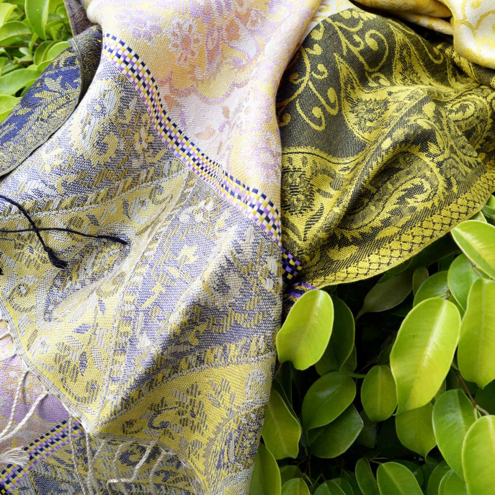 latest shawl and scarf design in pure mulberry silk