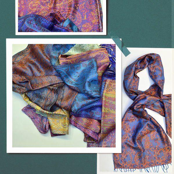 silk muffler scarf made in india - sharma handicrafts
